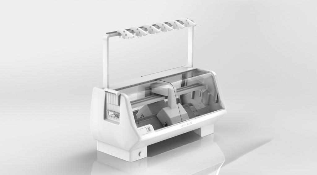 Kniterate's knitting machine render